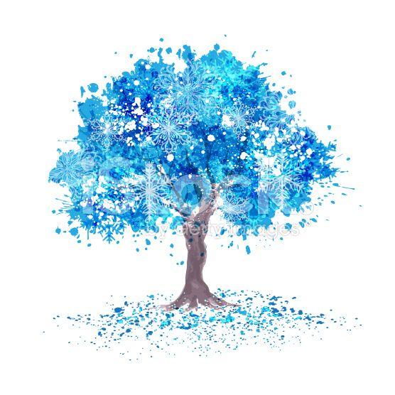 Arboles artisticos azules buscar con google rboles for Arboles en invierno