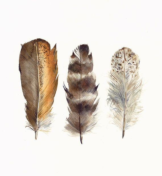 Pretty feather art