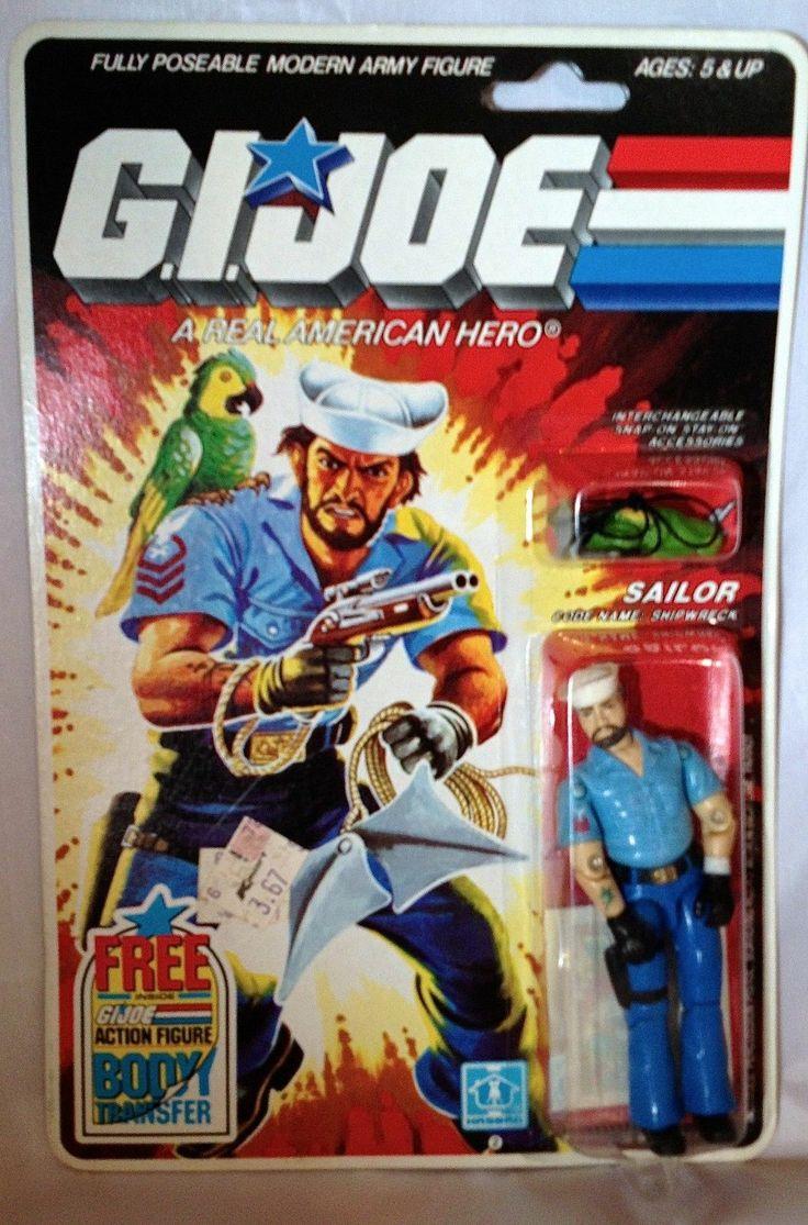 Claasic vintage toys vintage toys second shout out http www - Vintage Hasbro Gi Joe Sailor Shipwreck Action Figure Moc