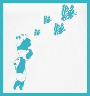 Panda butterfly #tshirtdesign #tshirtprint #panda #butterfly #tinygecko