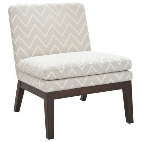 freedom slipper chair chevron taupe 2