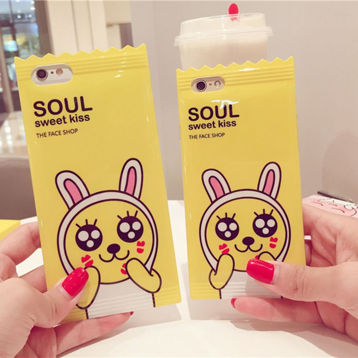 Korean Lovely Cartoon Candy Phone Cases for iphone 6 6s 6Plus 6splus Back Cover Cute Animal Rabbit Tpu Silicone Funda Capa Shell
