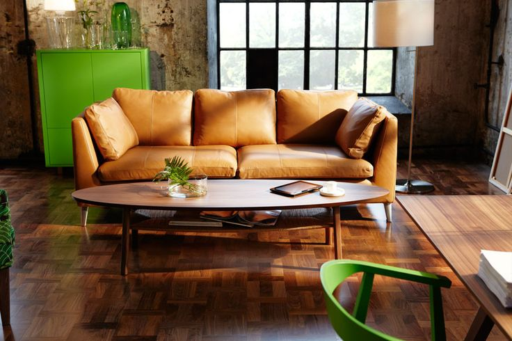 Ikea camel sofa from 2013 Stockholm collection
