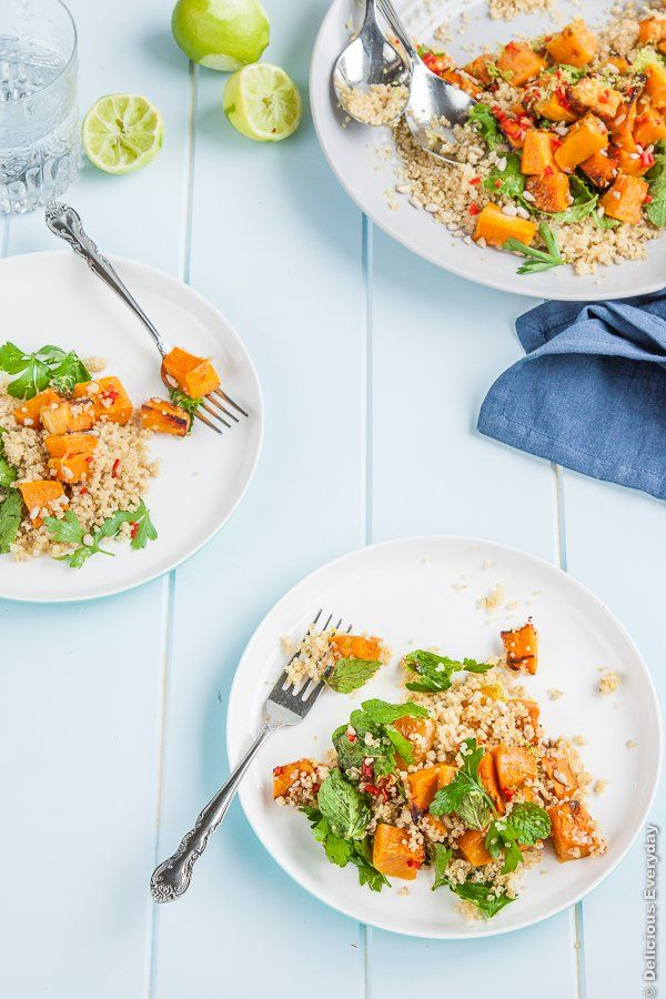 Lime, Chili and Roasted Butternut Pumpkin Quinoa Salad | DeliciousEveryday.com