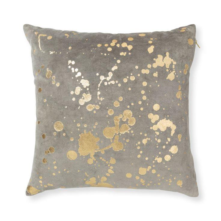 Buy the Grey Metallic Splatter Cushion at Oliver Bonas. Enjoy free UK standard delivery for orders over £50.