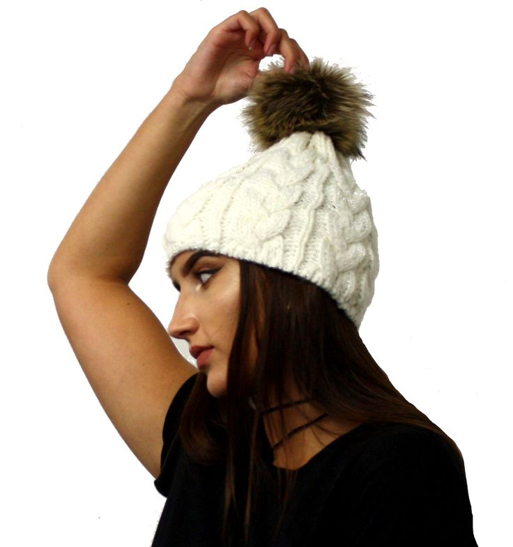 awesome Cream Bobble Hat