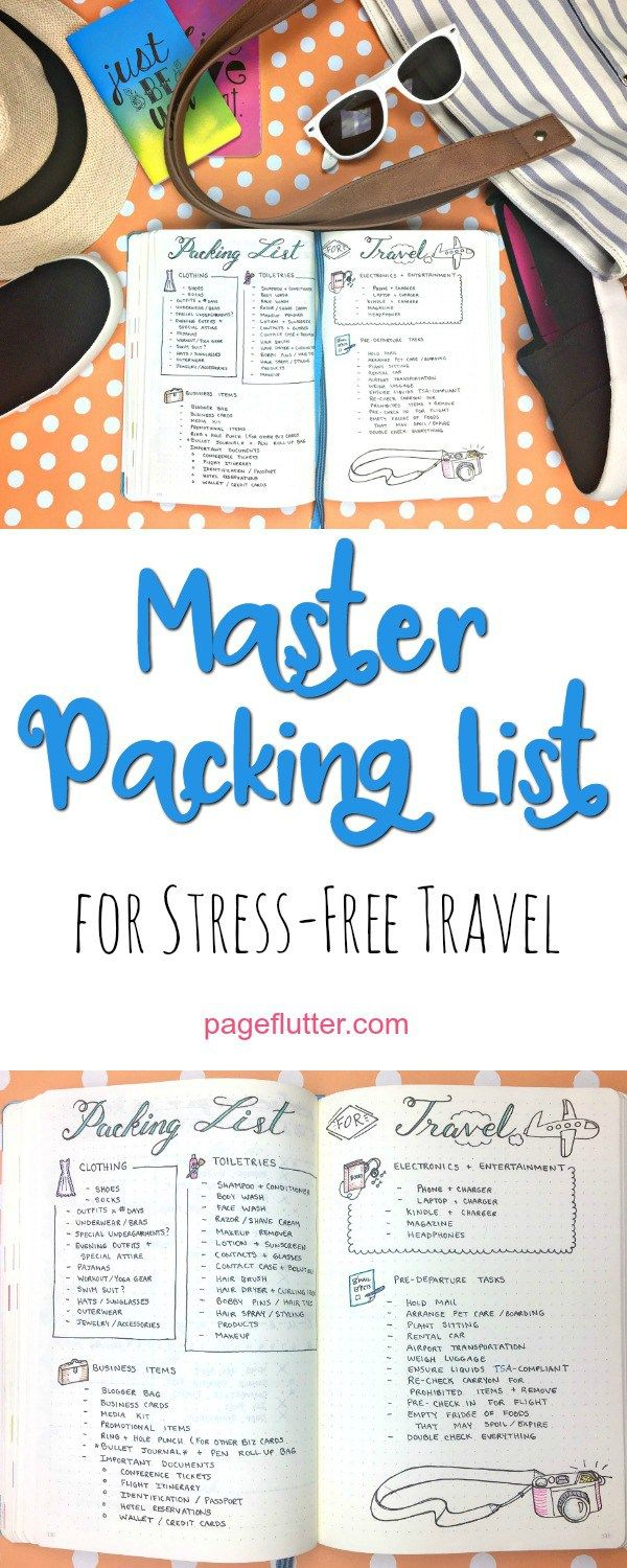 Master Packing List to De-Stress Your Travel Routine