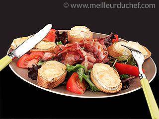 Salade au chèvre chaud   #salade  #chevre  #chaud