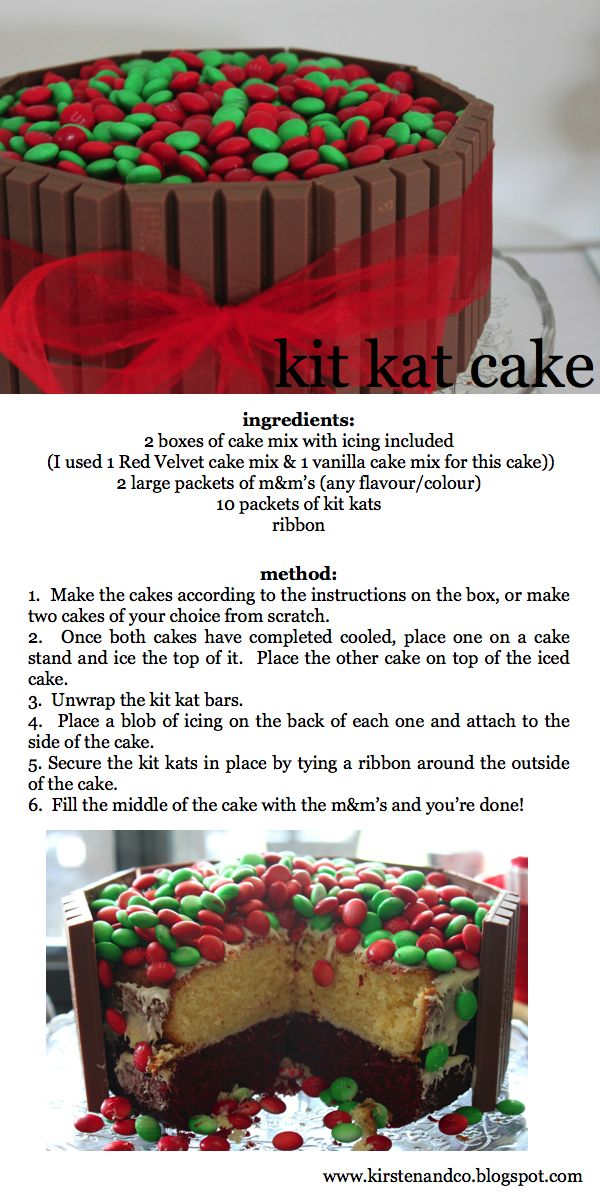 kit kat cake! So many ways to try this!