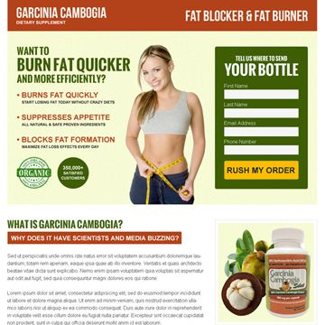 Buy top converting garcinia cambogia lead generating landing page design template for your business conversion