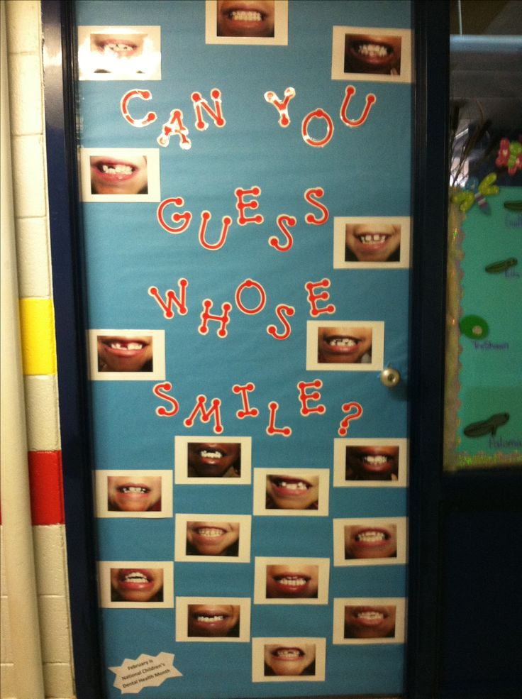 Guess the smile! Could be a bulletin board idea or ...
