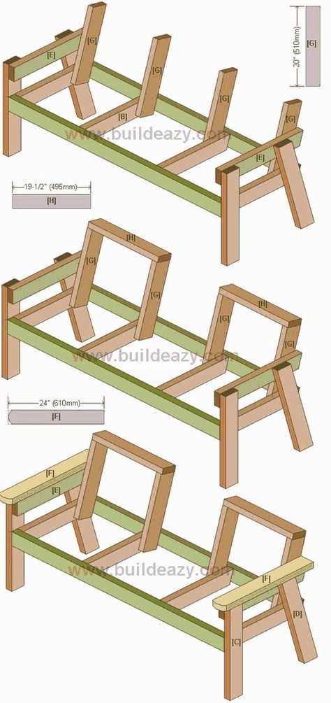 Buildeazy How To Build A 2 Seater Bench With A Center Table Rustic Outdoor Furniture Pallet Furniture Outdoor Diy Furniture Plans