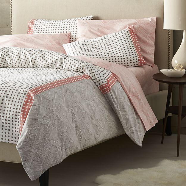 torben coral duvet covers and pillows shams
