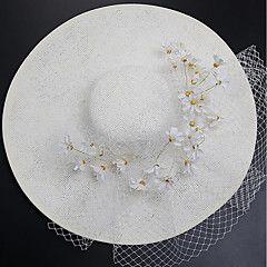 Tulle+Chiffon+Fabric+Silk+Net+Fascinators+Hats+Headpiece+Elegant+Style+–+USD+$+50.00