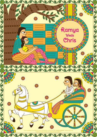 south indian wedding cards, south indian caricatures , south indian illustrations