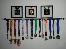 Image result for how to hang medals on wall