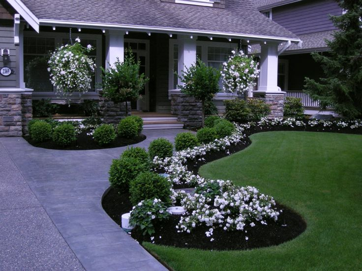 front yard landscaping on a budget mulch ideas for ranch style homes pictures florida