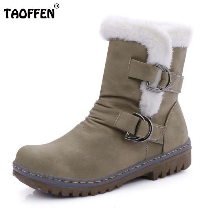 Bottes femmes, nouveau style, mode, talon grossier, bottes femelles, bottes de neige, gommage, bottes moyennes