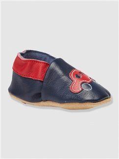 Patucos zapatillas de piel flexible bebé niño