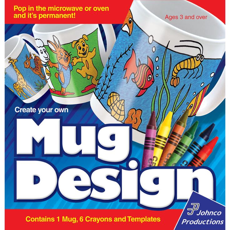 Create Your Own Personalised Mug Design | Coffee Cup Draw Paint Ceramic | Yellow Octopus