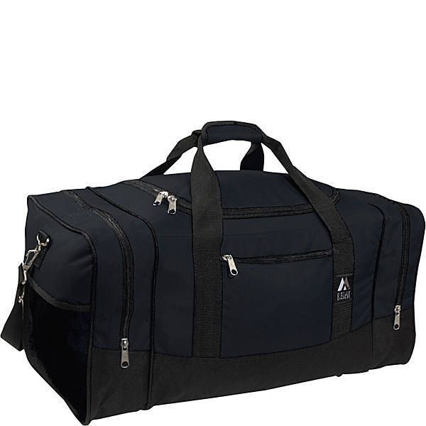 Large Luggage Sport Gear Bag Everest Mens Workout Travel Duffel Black Gym Tote #Everest #DuffleGymBag