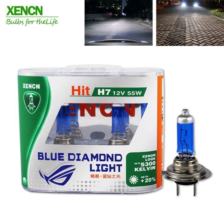 Xencn h7 12 v 55 w 5300 k xenon biru berlian cahaya mobil headlight Halogen Bulb Xenon Ultimate Putih Kepala Lampu untuk vw polo land rover