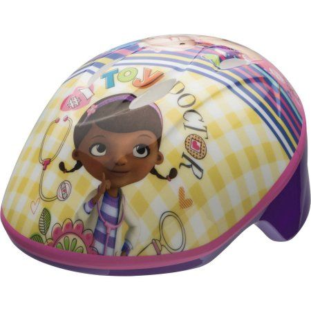 Bell Sports Doc McStuffins Toddler Bike Helmet, Purple and Pink