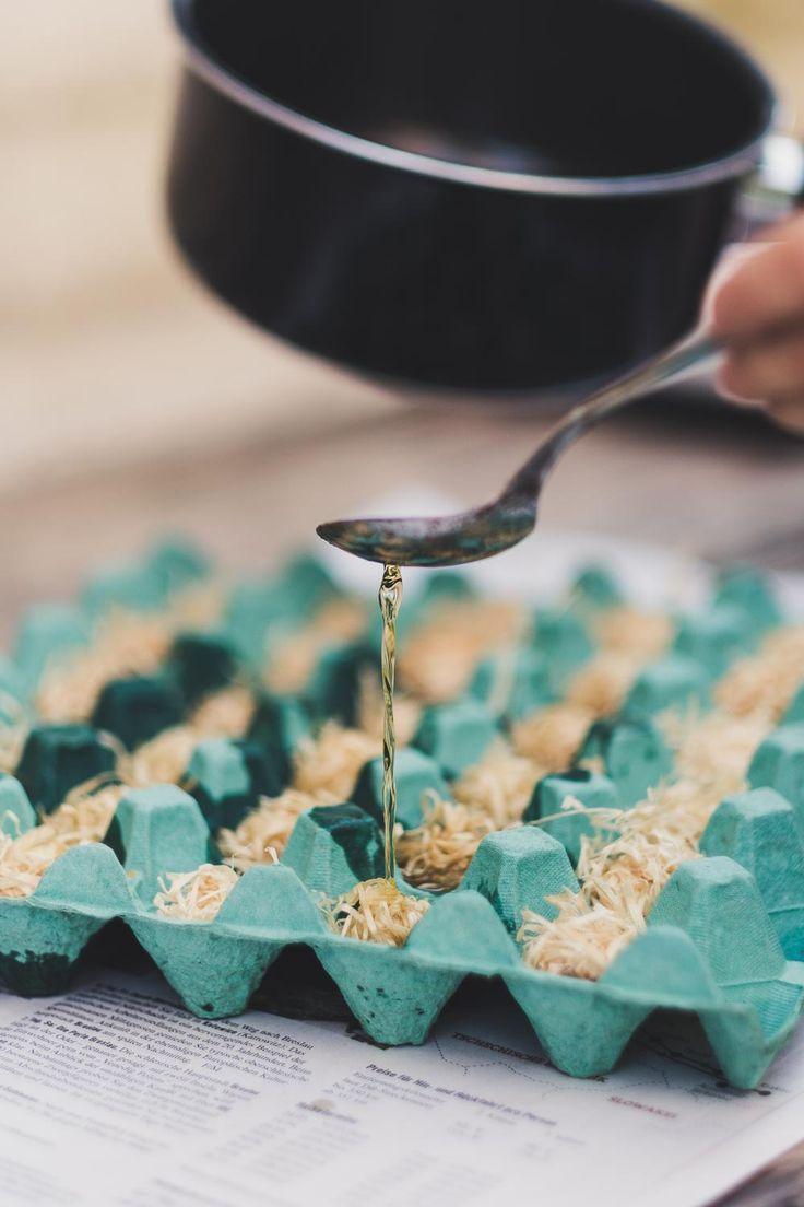 Grill- und Kaminanzünder selber machen – Zero Waste Geschenkidee