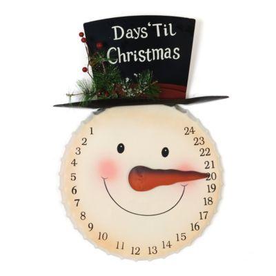 Christmas decor: countdown to Christmas snowman