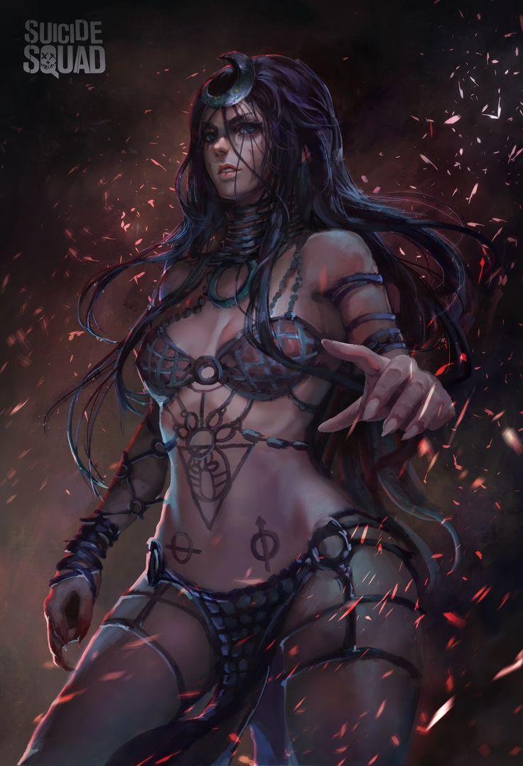 ArtStation - Enchantress , 田 烏鴉