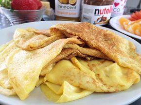 Mitt favoritrecept på glutenfria pannkakor innehåller maizena som gör att det går att grädda tunna pannkakor som går lätt att vända i stekpannan och smakar underbart.