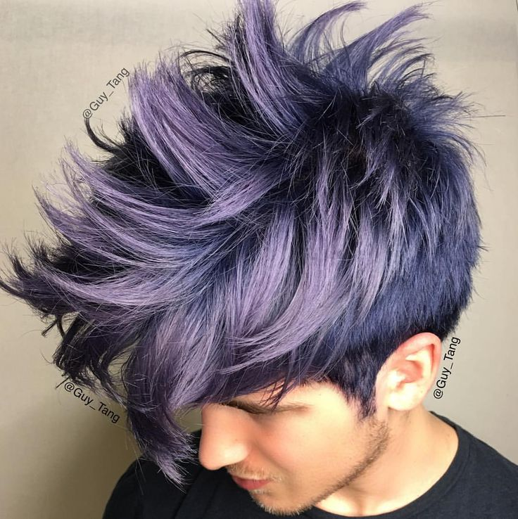"""Guy Tang on Instagram: """"My boy @joeygraceffa got the #MetallicObsession using @kenraprofessional 7SM 3inch blue booster and 8SM 3inch Violet booster all in Demi on level 10 hair !"""""""