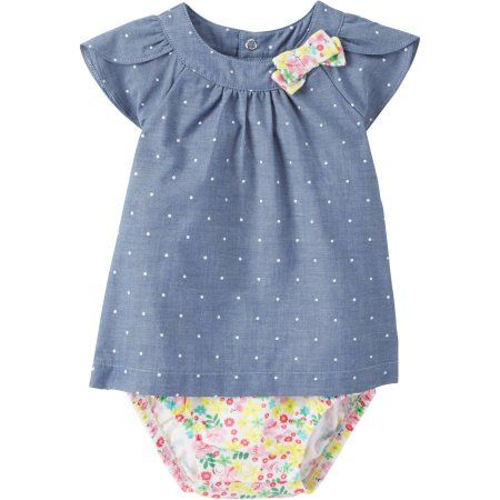 Child Of Mine by Carters Newborn Baby Girl Dress, Blue