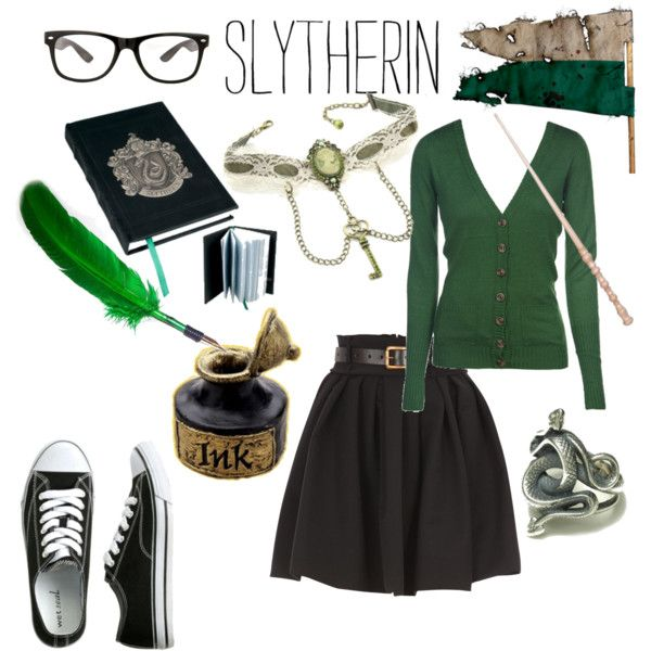 """Slytherin :)"" by olivianicole17 on Polyvore"