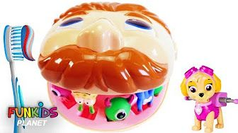 PAW PATROL Super Marshall Visits Disney Jr Doc McStuffins Pet Vet Toy Hospital! - YouTube