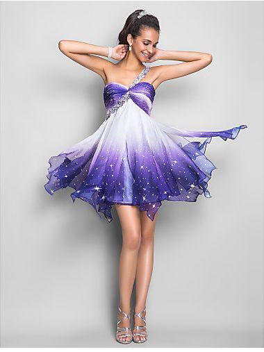 A-line One Shoulder Short Prom Dress