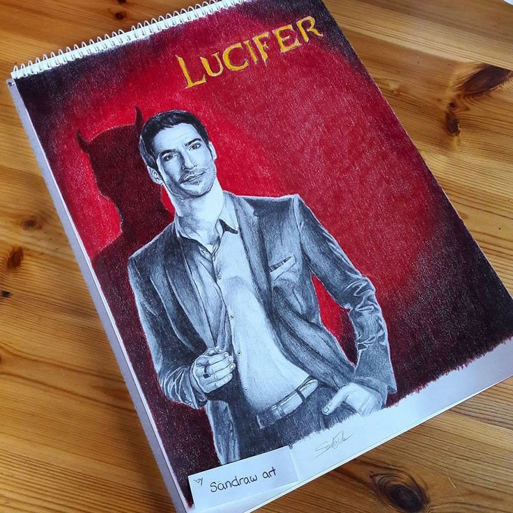 "Tom Ellis as Lucifer Morningstar from the FOX TV Show ""Lucifer"" - fan art by me  https://www.instagram.com/sandra1d_/  https://www.behance.net/design_sandy04"