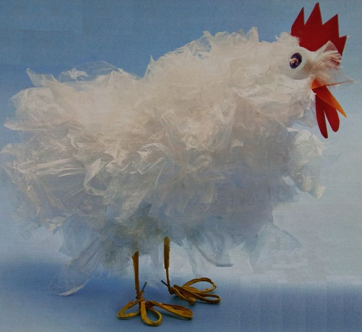 Een kip knutselen doe je natuurlijk met Pasen, maardeze AH-kip iseen decoratieve kip, dus daar kan je gelijk mee aan de slag. Benodigdheden stevig ijzerdraad,...
