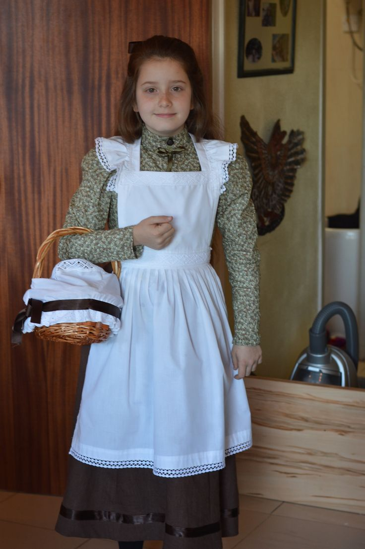 White apron fancy dress - This Is The Costume I Made For My Daughter Polly S School Victorian Day It Was