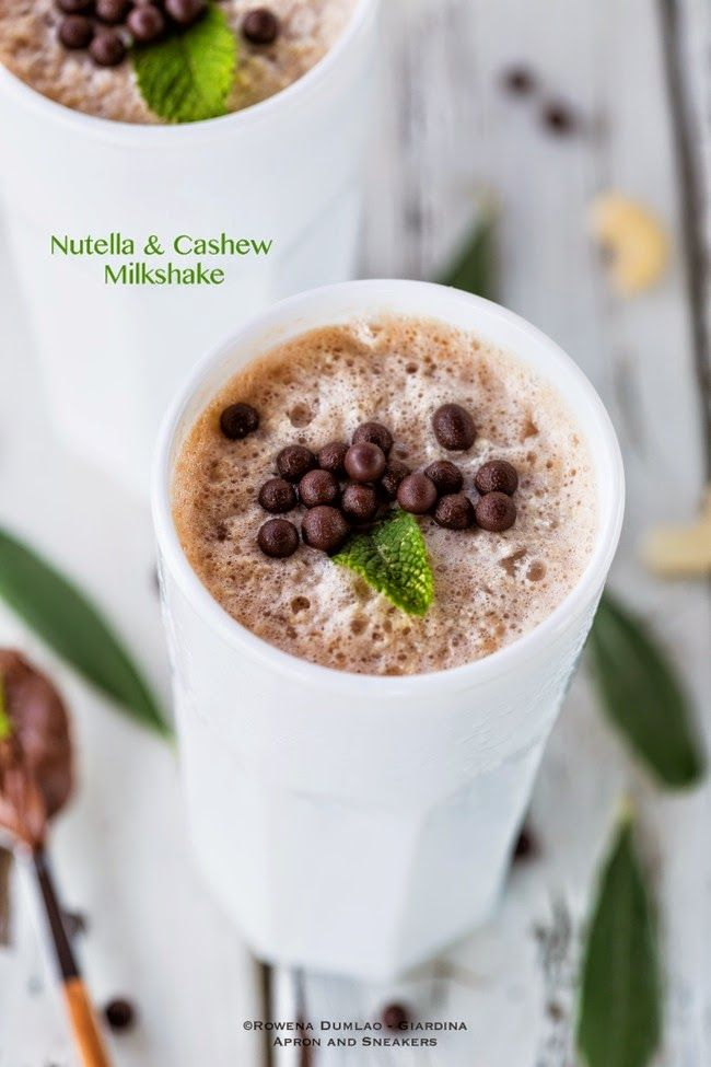 Apron and Sneakers - Cooking & Traveling in Italy and Beyond: Nutella Cashew Milkshake