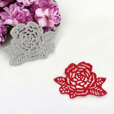 1PCS Rose Flowers Cut Metal Cutting Stencils Dies DIY Scrapbooking Album Paper