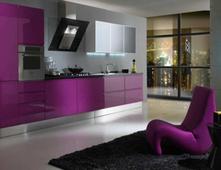 Elegant Purple Simple Kitchen Decorating Ideas Modern Furniture Colors Decor