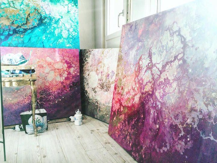 Through gorgeous, ethereal paintings, artist Emma Lindstrm creates a tangible representation of a feeling. To her, this feeling is floating and irrational, but always uplifting and full of hope–one that can be experienced, but never formed into a thought. The conceptual basis for Lindstrm's artwork lends itself to the sprawling, abstract compositions that she painstakingly …