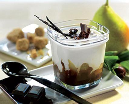 Délice vanille, poire chocolat