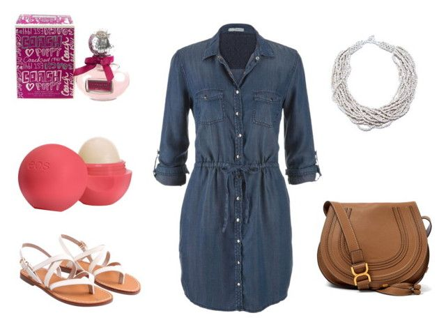 Denim Dress by loredana-lorysblog on Polyvore featuring maurices, Chloé and Eos