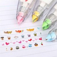 Creative Stationery Push Correction Tape Lace for Key Tags Sign School Supplies Welcome Your support