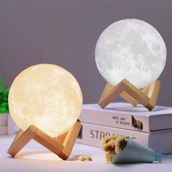 3d Printed Moon Lamp 16 Color Moon Lamp Moon Lamp Lunar Desk Lamp Customize Photo Or Text Led Night Lamp Lamp Night Light