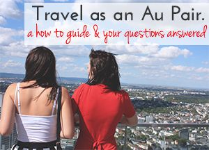 I would love to work as an au pair