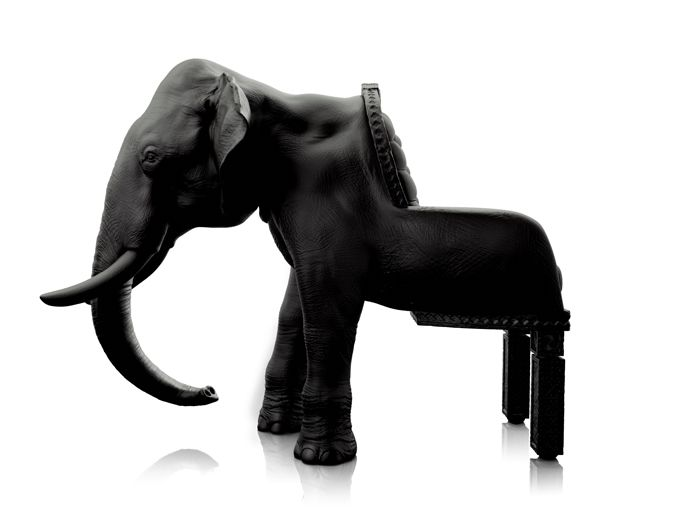 """Aptly-named """"Elephant Chair"""" by the Spanish designer Máximo Riera.: Elephant Chairs, Little Owls, Design Chairs, Maximo Riera, Animal Chairs, Living Room, Furniture, Maximoriera, Animal Decor"""