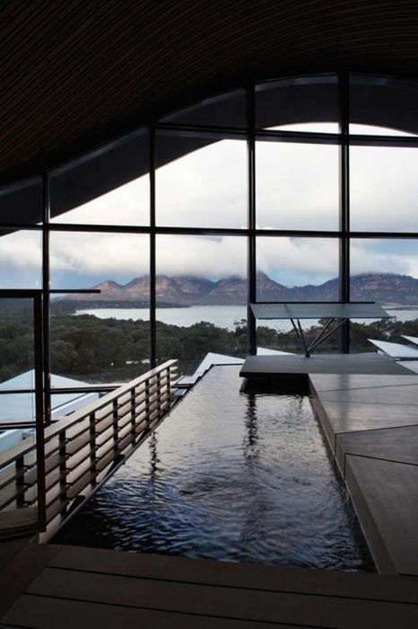 At the Saffire Resort by Circa Architecture, Great Oyster Bay, Tasmania, Australia.
